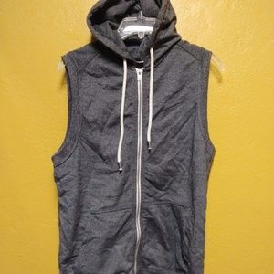 Forever 21 Sleeveless Zip Up Hoodie Jacket Size XS